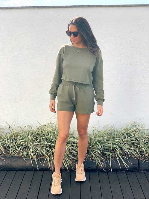 Cropped Comfy - Militar