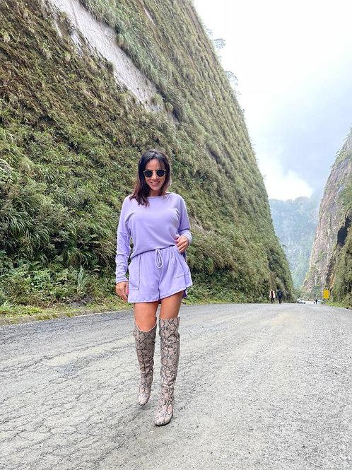 Shorts Basic - Lilac