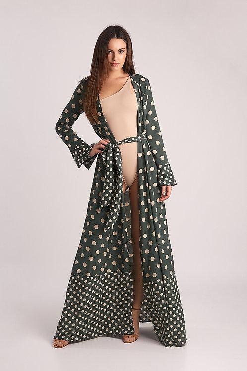 Vestido Tropea Poá - Verde