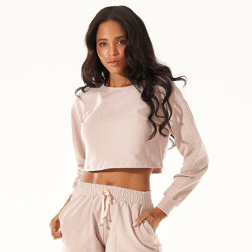 Cropped Comfy - Rose