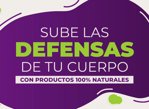Conoce cómo subir las defensas de tu cuerpo utilizando productos 100% de origen natural.