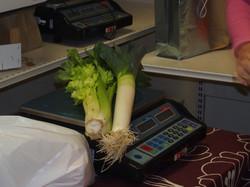 Pesée des légumes