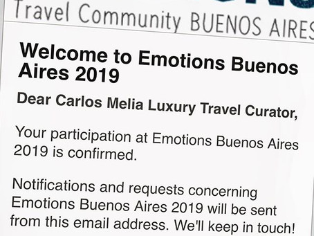 LGTNetwork will take part of EMOTIONS Buenos Aires 2019 - Latin America Luxury Travel Summit