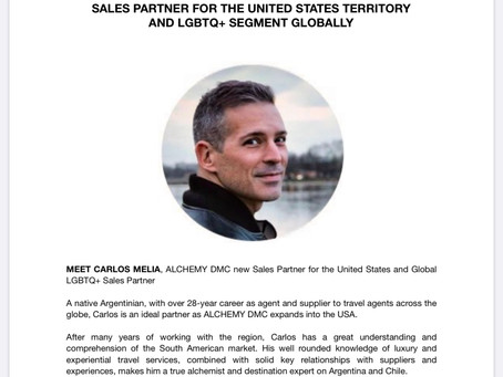 CARLOS MELIA JOINS ALCHEMY DMC ARGENTINA & CHILE AS GLOBAL LGBTQ+ SALES PARTNER