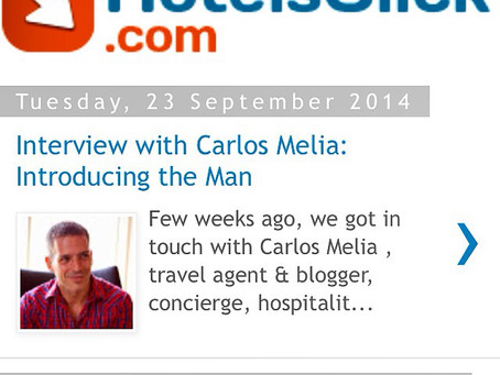 HotelsClick features LGTNetwork. Interview with Carlos Melia: Introducing the Man
