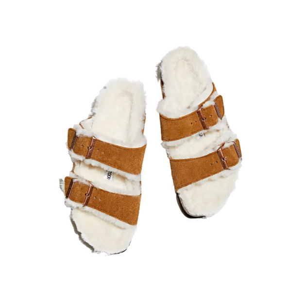 Shearling-Lined Sandals