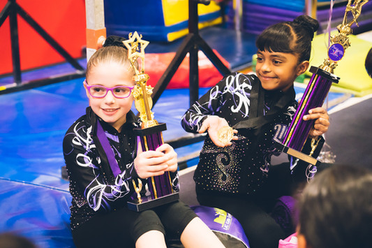 Industry Gymnastics 2 Trophies