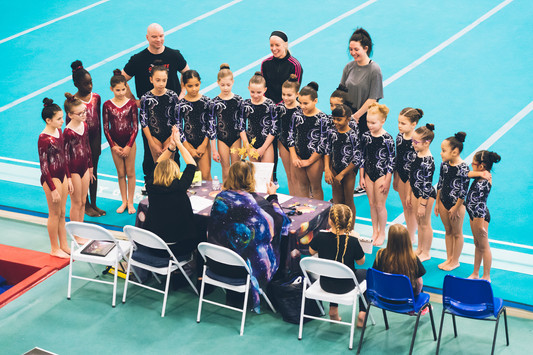 Industry Gymnastics meet the judges