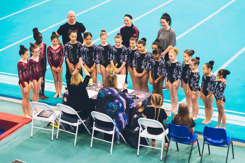 Industry Gymnastics meet the judges