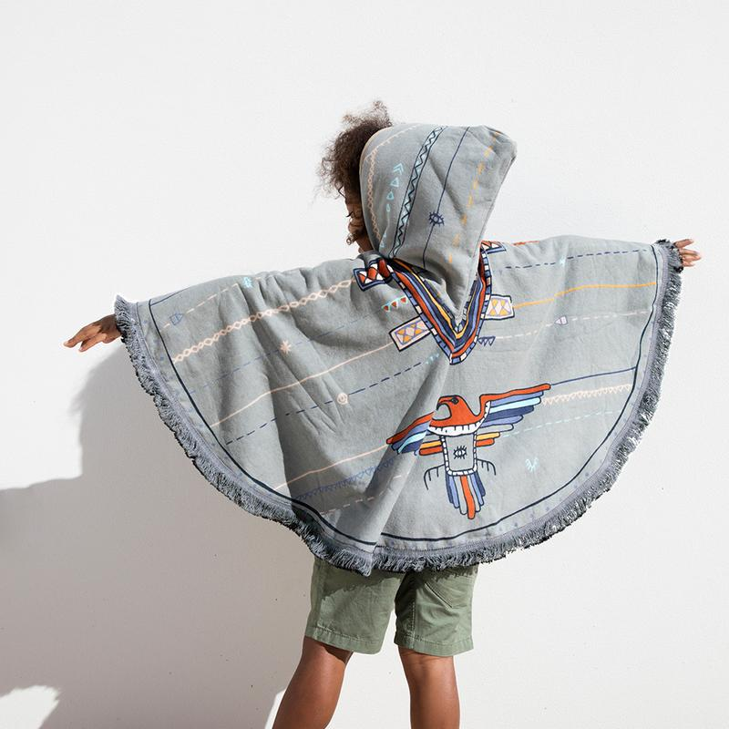 The perfect post dip poncho for kids
