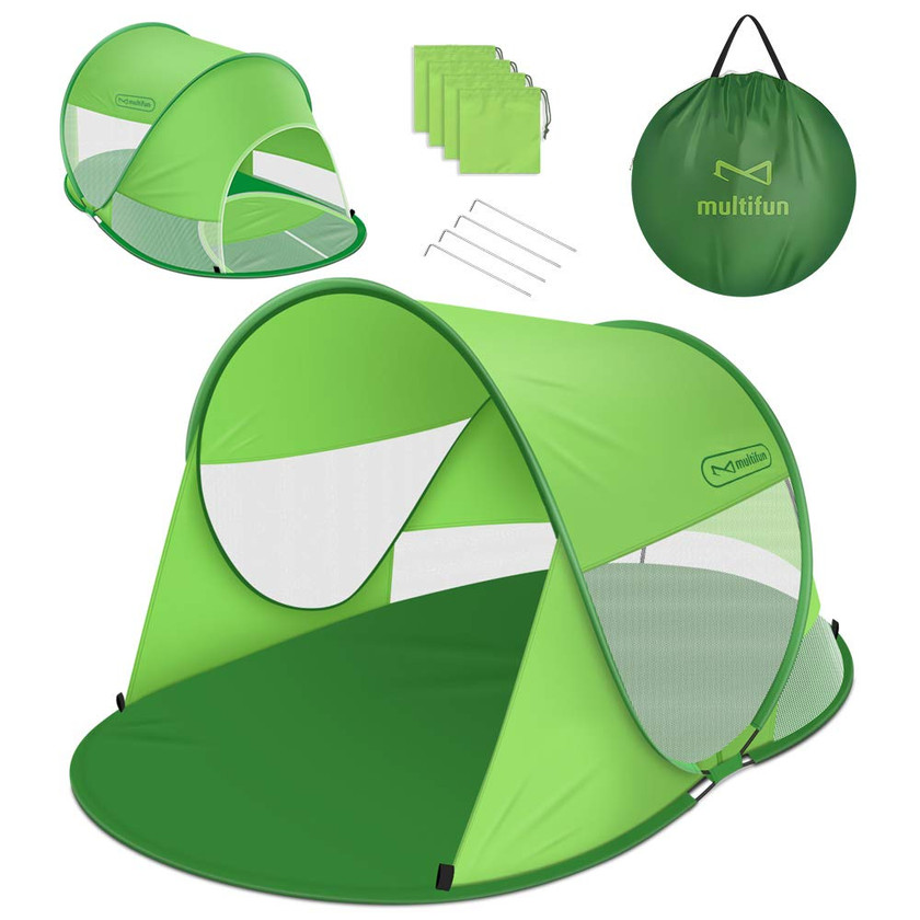 A pop up tent for the sun averse
