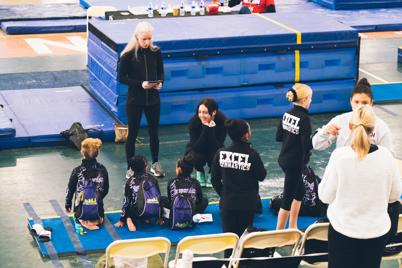 Industry Gymnastics Getting ready for a meet