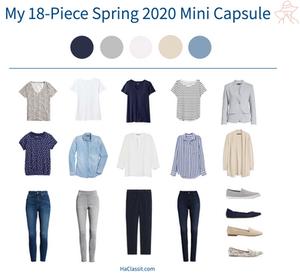 18-piece Spring 2020 mini capsule