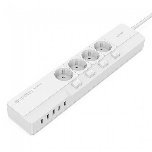 Сетевой фильтр ORICO OSJ-4A5U-WH + USB зарядное устройство