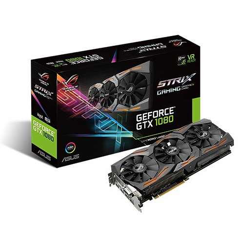 Видеокарта ASUS GeForce GTX 1080 8GB (STRIX-GTX1080-A8G-GAMING), 256Bit