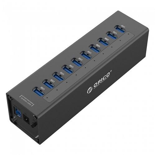 Концентратор ORICO A3H10-BK, 10*USB 3.0