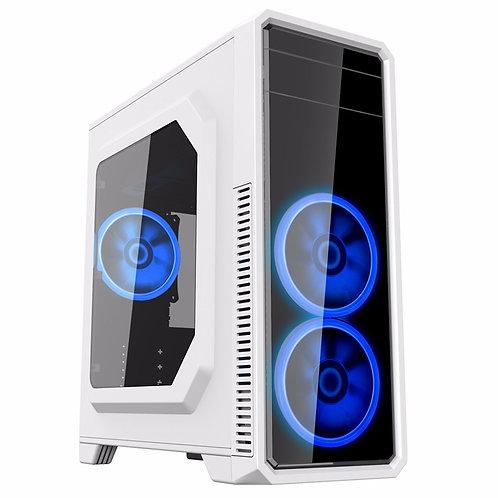 Корпус GameMax G561-White (Midi Tower, ATX White, Blue Led)