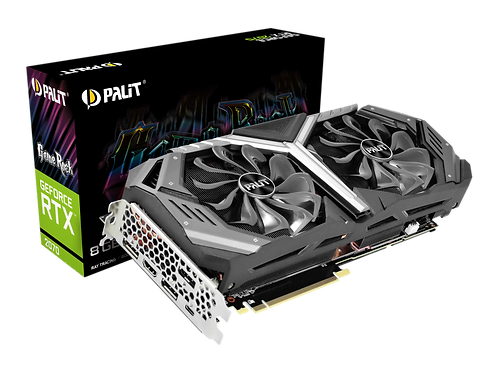 Видеокарта PALIT GeForce RTX2070 8GB (PA-RTX2070 GAMEROCK 8G), 256Bit