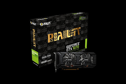 Видеокарта Palit GeForce GTX 1070 8GB (PA-GTX1070 DUAL 8G), 256Bit