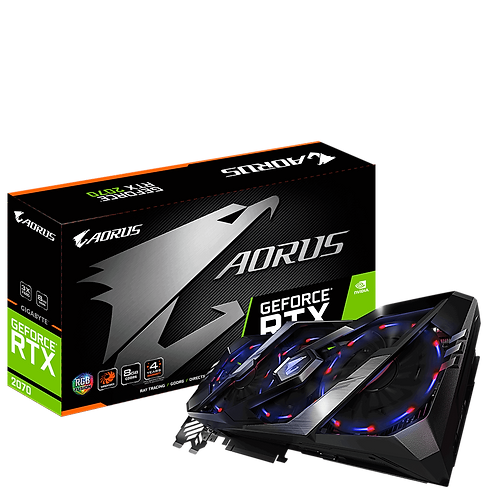 Видеокарта Gigabyte GeForce RTX2070 8GB (GV-N2070AORUS-8GC), 256Bit