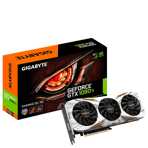 Видеокарта Gigabyte GeForce GTX 1080TI 11GB (N108TGAMING OC-11GD), 352Bit