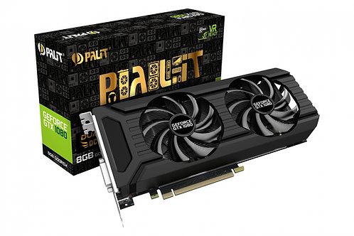 Видеокарта Palit GeForce GTX 1080 8GB (PA-GTX1080 DUAL OC 8G), 256Bit
