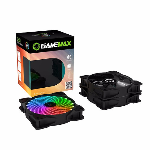 Комплект вентиляторов GameMAX CL300 3*120мм RGB в комплекте с контроллером
