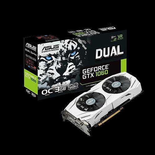Видеокарта ASUS GeForce GTX1060 3GB (DUAL-GTX1060-O3G), 192Bit