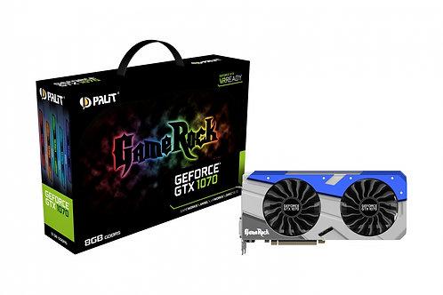 Видеокарта Palit GeForce GTX 1070 8GB (PA-GTX1070 GAMEROCK 8G), 256Bit