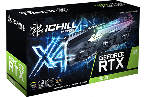 Видеокарта INNO3D GeForce RTX 3090 ICHILL X4 24GB (C30904-246XX-1880VA36), 384Bi