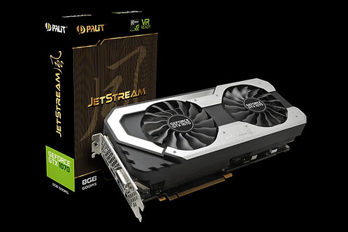 Видеокарта Palit GeForce GTX 1070 8GB (PA-GTX1070 JETSTREAM 8G), 256Bit