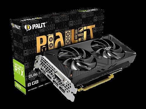 Видеокарта PALIT GeForce RTX2070 8GB (PA-RTX2070 DUAL 8G V1), 256Bit