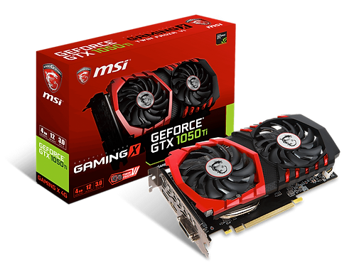 Видеокарта MSI GeForce GTX1050TI 4GB (GAMING X), 128Bit