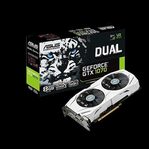 Видеокарта ASUS GeForce GTX 1070 8GB (DUAL-GTX1070-8G), 256Bit