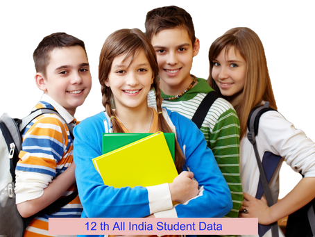 12th Plus two Student database 2021