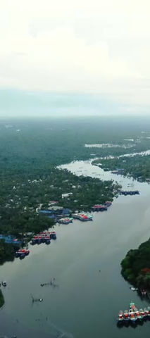 Munambam harbour in Second Lockdown Aerial view