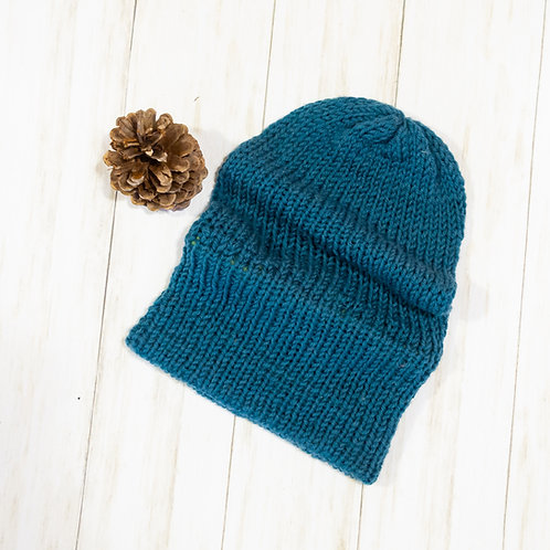 Super Slouchy Knit Beanie - Countryside Blue