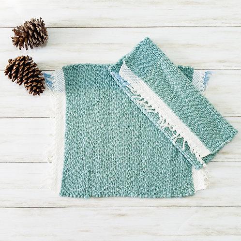 Handwoven Cotton Placemats - Powder Blue