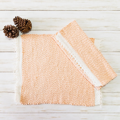 Handwoven Cotton Placemats - Blush