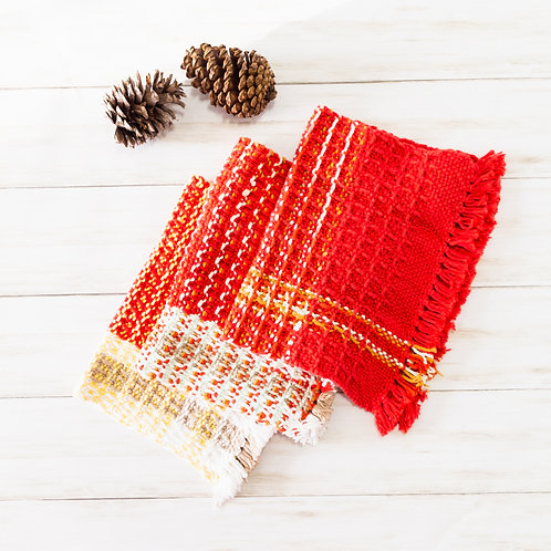 Mighty Little Waffle-Weave Towel - Reds