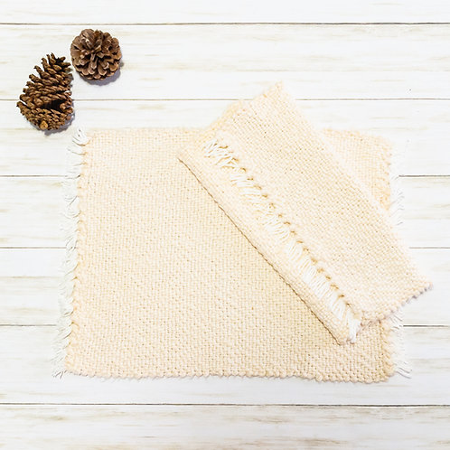 Handwoven Cotton Placemats - Ivory