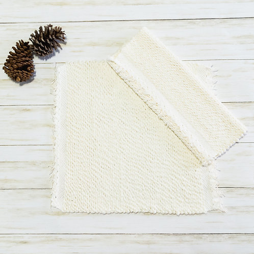 Handwoven Cotton Placemats - Marshmallow