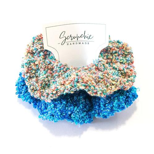 Wavy Crochet Confetti Scrunchies - Set of 2