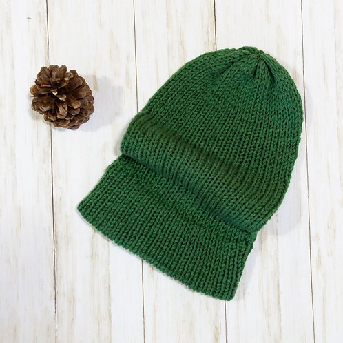 Super Slouchy Knit Beanie - Countryside Green