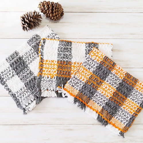 Mighty Little Waffle-Weave Towel - Checks