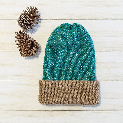 Slouchy knit beanie folded brim