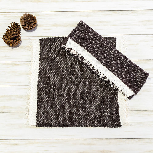 Handwoven Cotton Placemats - Charcoal