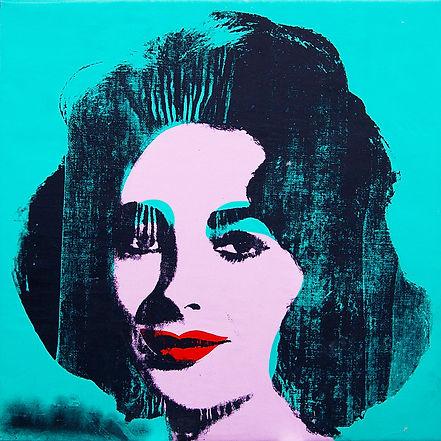 Warhol - Liz  1964 Turqoise aqua blue si