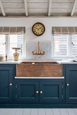 Farmhouse with Indian copper sink