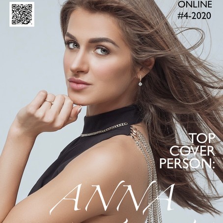 Анна Зайцева на обложке MODELbook #BLOGGMAGAZINE ONLINE / #4-2020